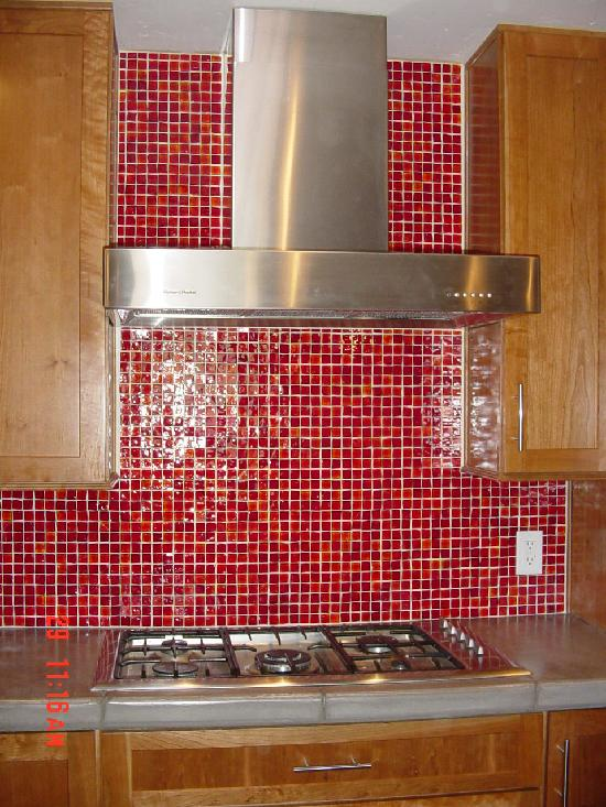 love my home backsplash pictures with red strip metal tiles mixed red crystal glass mosaic tile red
